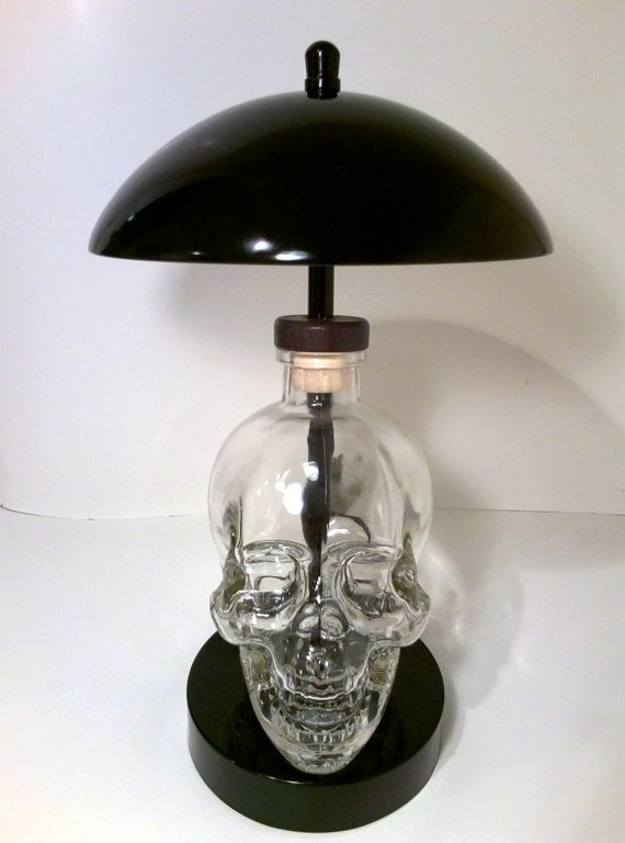 Lovely Skull liquoralcohol vodka Bottle Touch Lamp by ZombieBottleLamps $110 00 Beautiful - Awesome touch lamp Picture