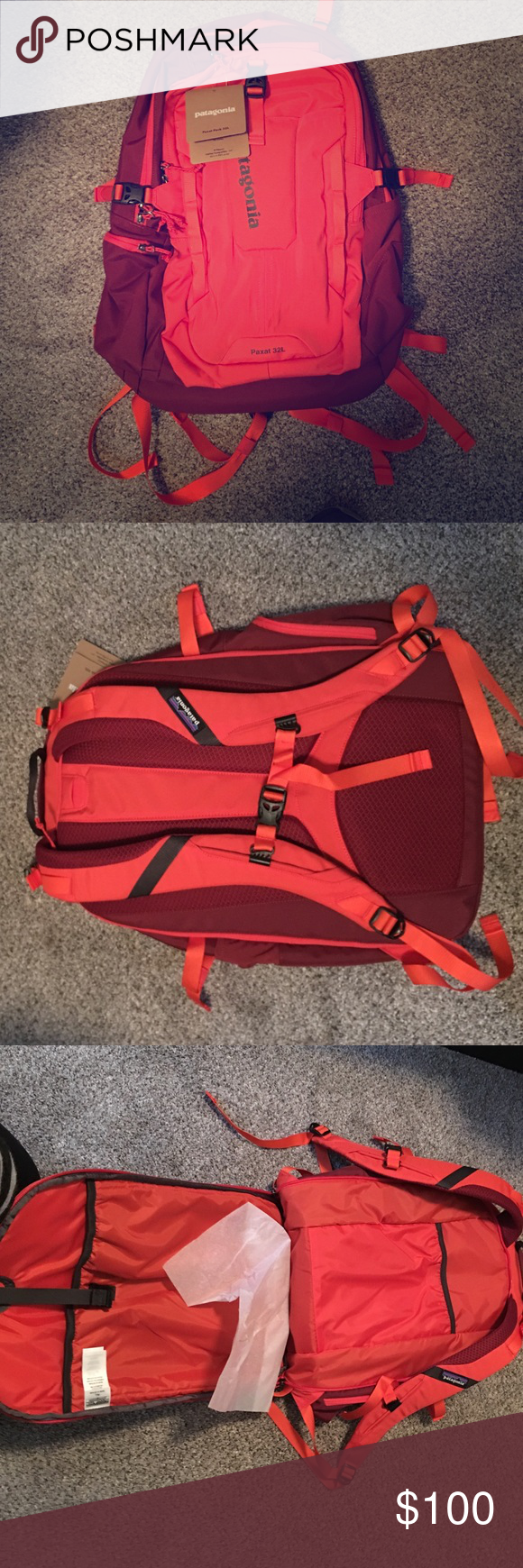 Patagonia Paxat Pack 32L BRAND NEW Book Bag Has A Great Fold Out Laptop