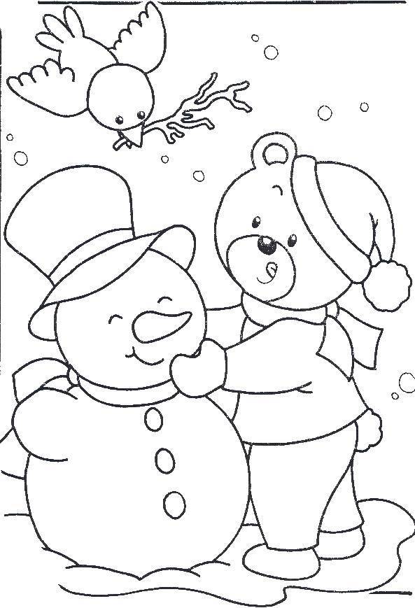 Happy In Snow Day Coloring Pages Winter Coloring Pages