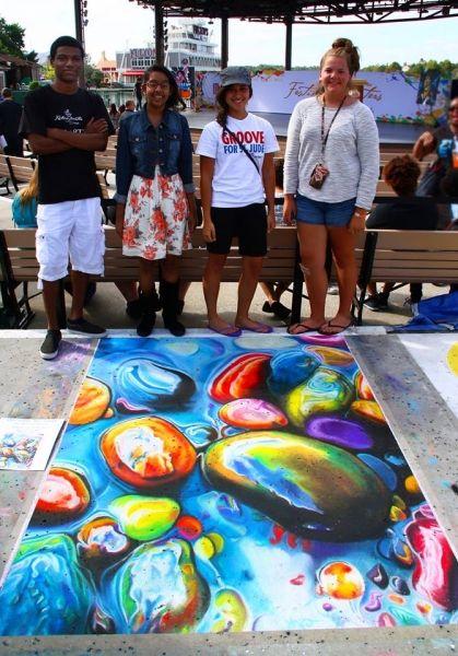 "Amazing Chalk Replica of ""Impasse"""