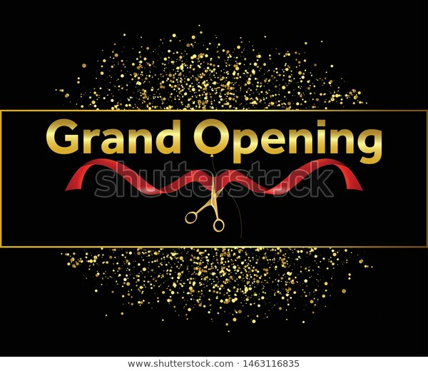 Grand Opening Vector Background Banner Backdrop Stock Vector Royalty Free 1463116835 Banner Backdrop Background Banner Grand Opening