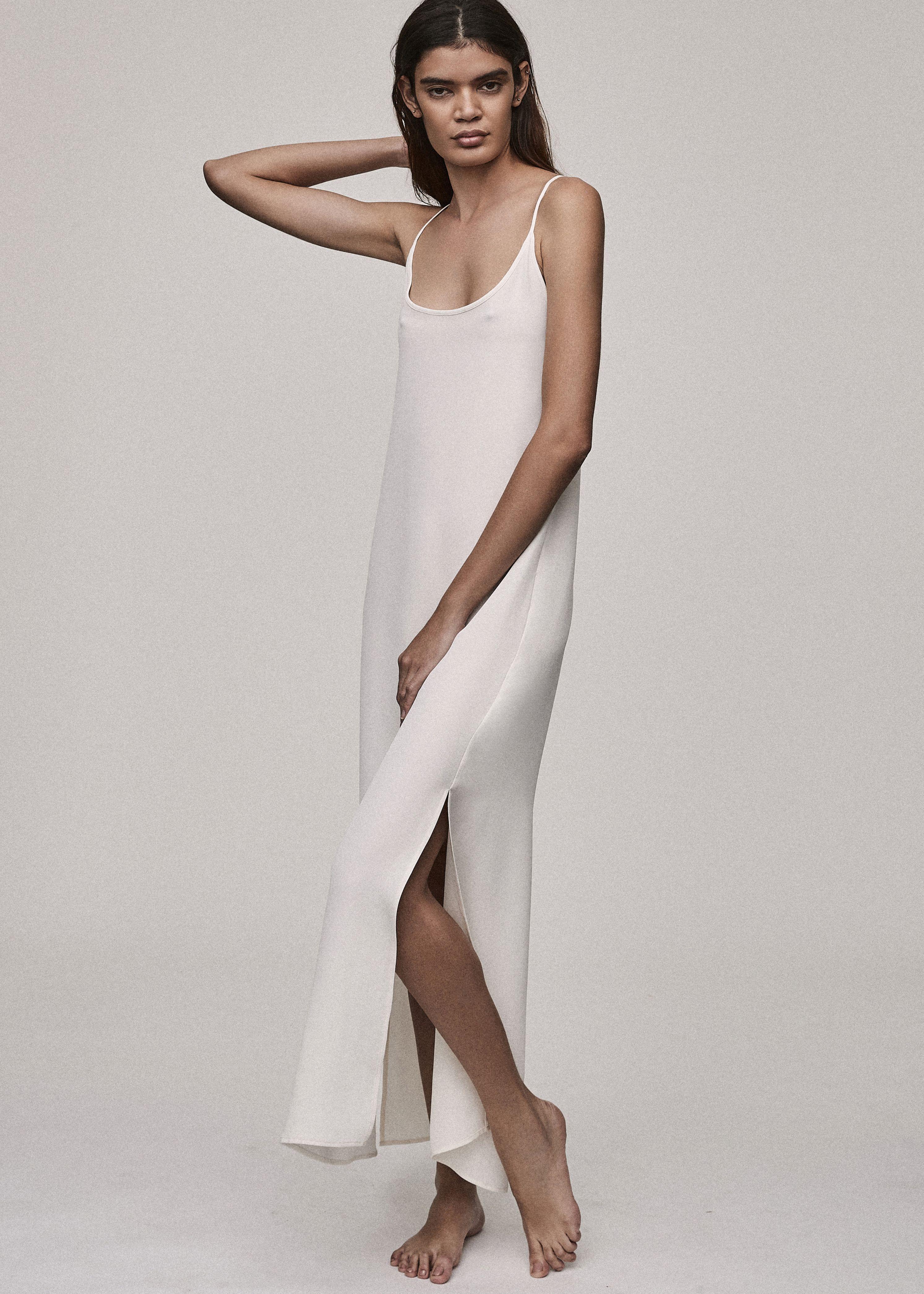 Asceno White Silk Long Slip Dress Bridal Edit Long Slip Dress Silk Dress Long Slip Dress [ 4181 x 2987 Pixel ]