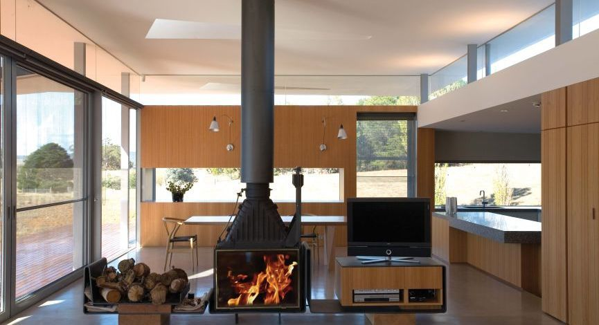 Double sided view radiante 846 2v fireplace cheminees for Double sided open fireplace