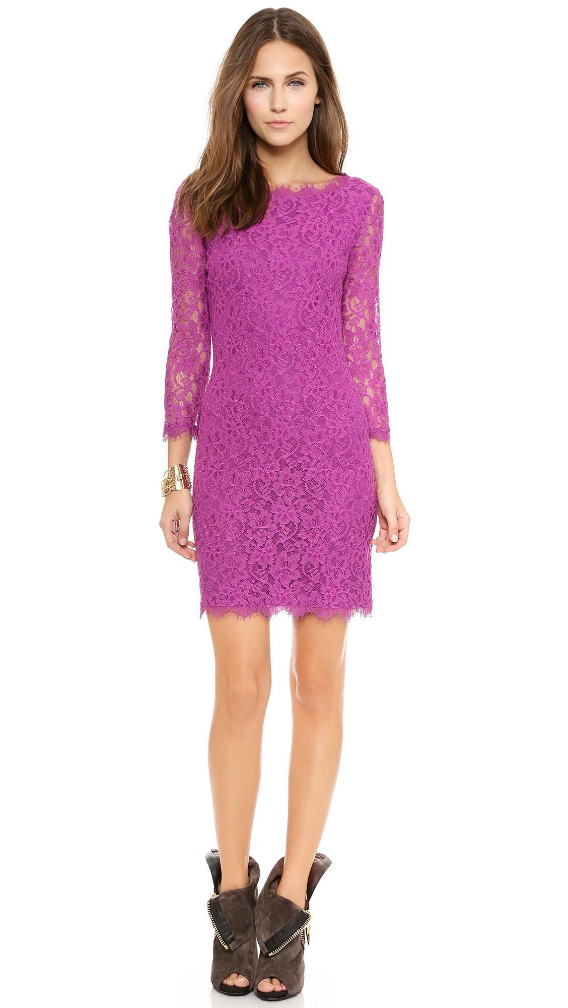 Diane von Furstenberg Zarita Lace Dress Chahnuh