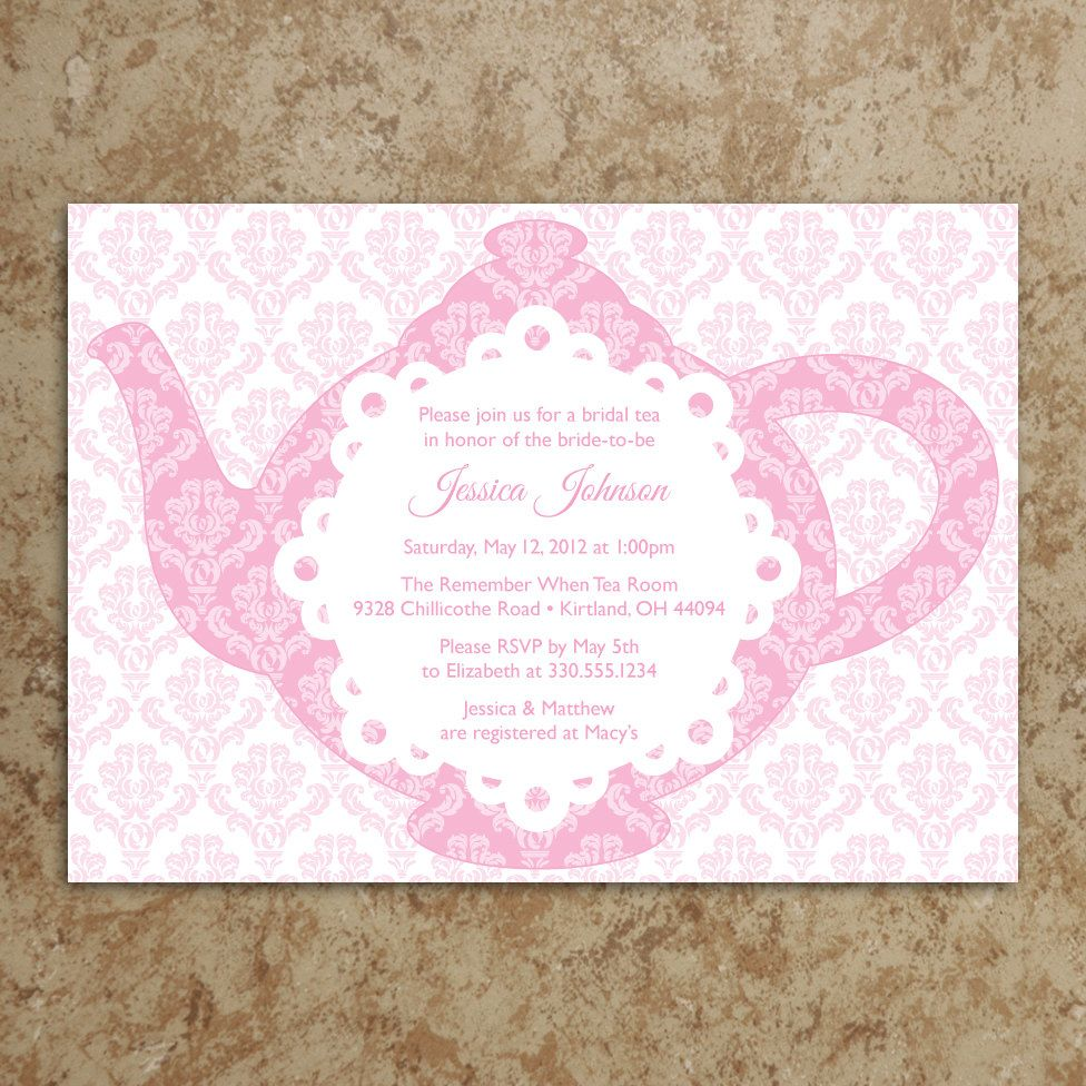 Tea Party Invitation Diy Printable Pdf Tea Party Invite