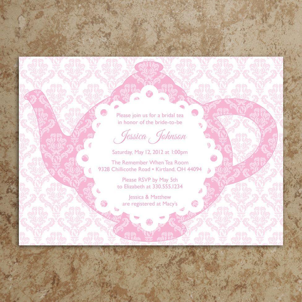 Tea Party Invitation - Tea Party Invite - Baby Shower Invitation ...