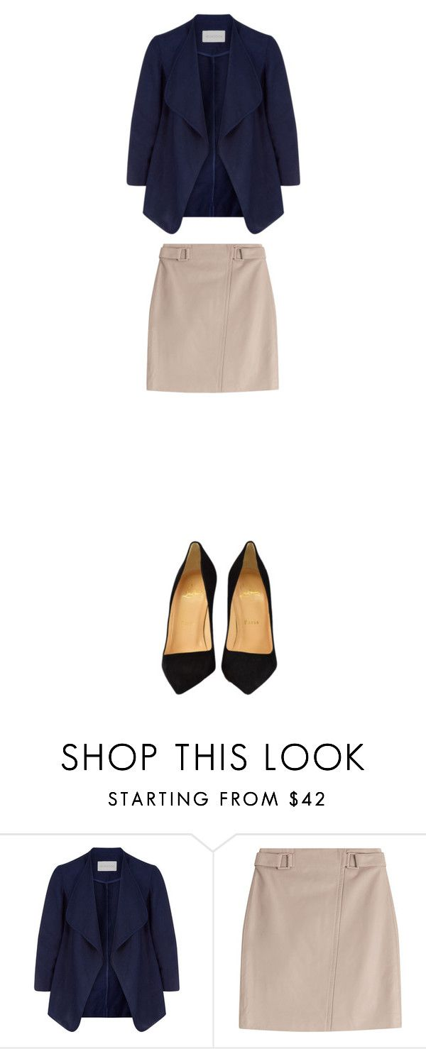 """""""Untitled #78"""" by eynat-208 ❤ liked on Polyvore featuring Monsoon, Steffen Schraut and Christian Louboutin"""