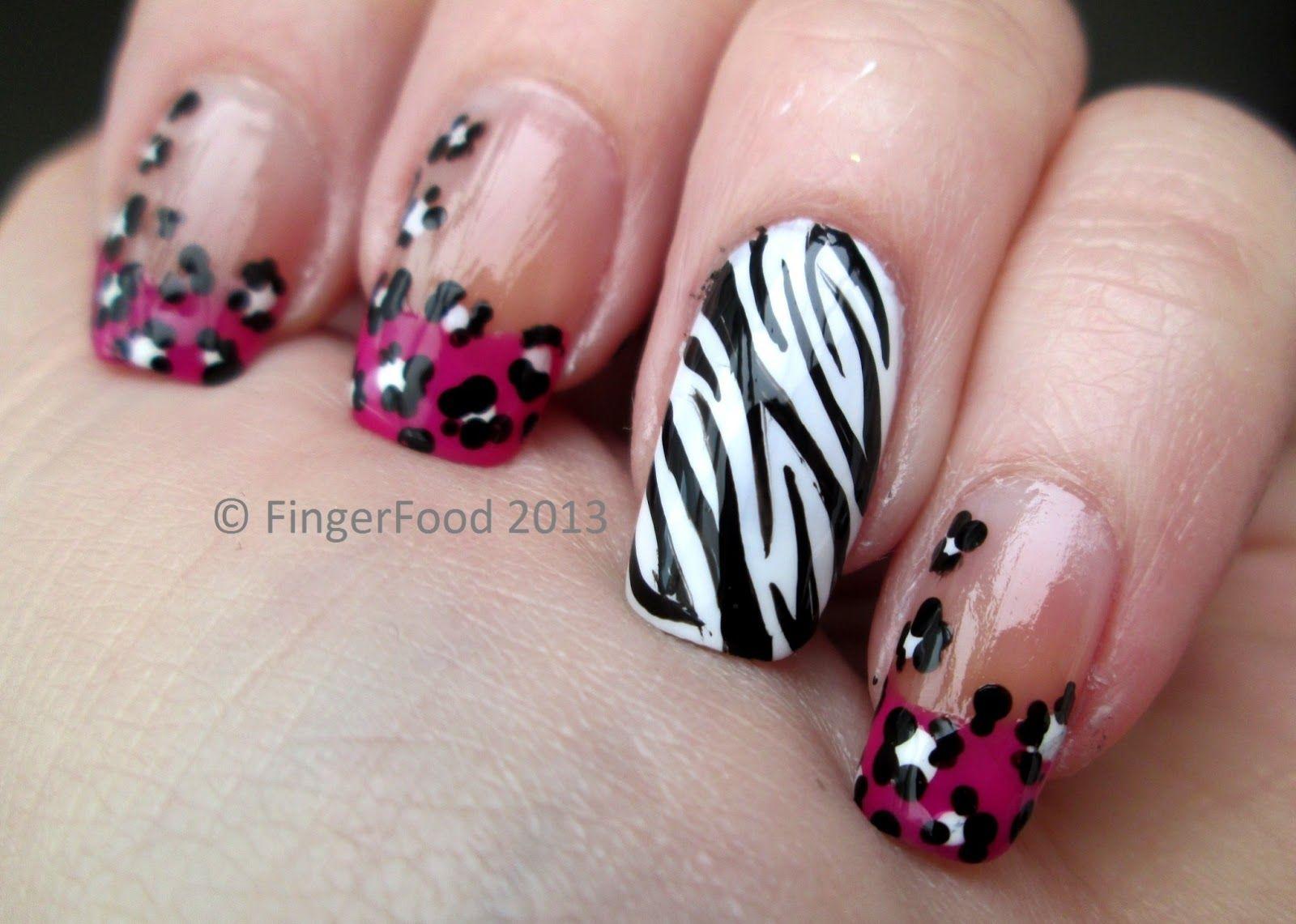animal print french nail art designs 2013   ... you! And if you like ...