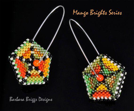 Geometric Color Play Square Drop Earrings Beading Kit