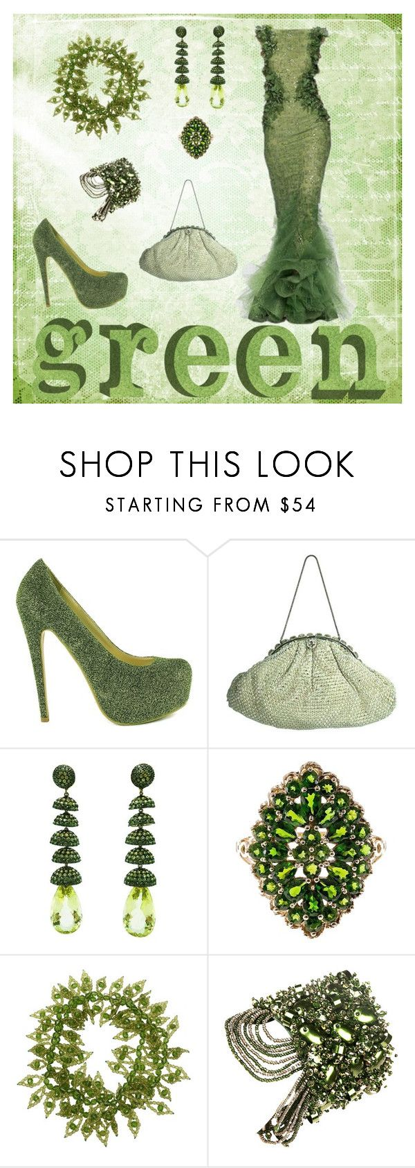 """Green"" by donnalynnginn ❤ liked on Polyvore featuring Sugarfree Shoes, Coppola e Toppo and Begada"