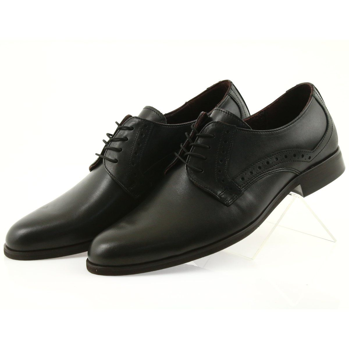 Tur Polbuty Skorzane Wiazane 388 Czarne Dress Shoes Men Shoes Shoes Mens