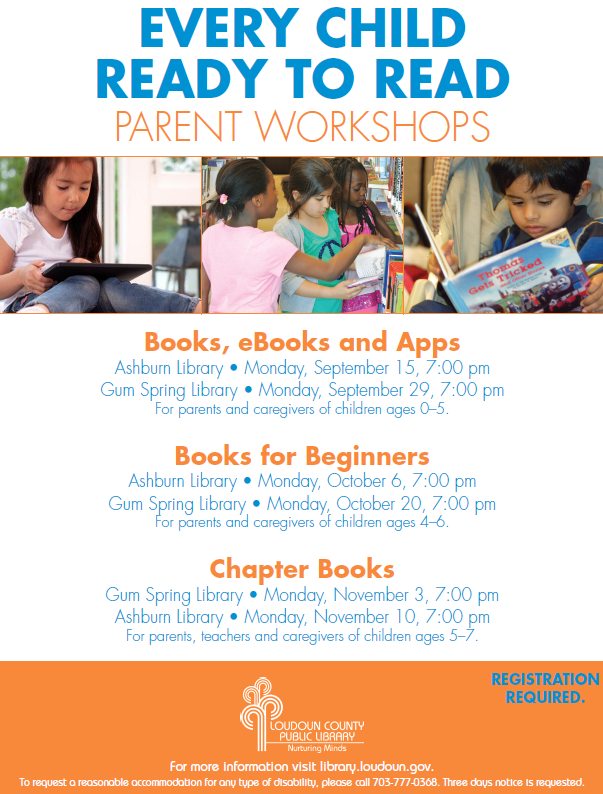 Every Child ready to Read Parent Workshops. For adults. | Parent ...