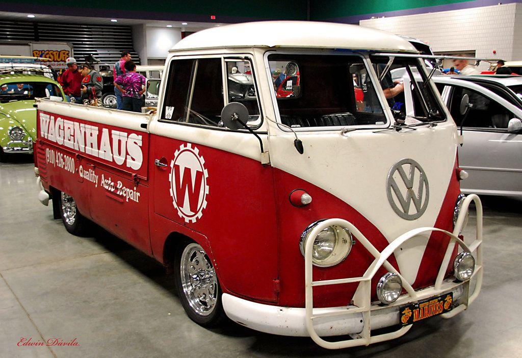 Red Vw Pickup Bus By E Davila Photography On Deviantart Vw Pickup Vintage Vw Van Volkswagen Bus Camper
