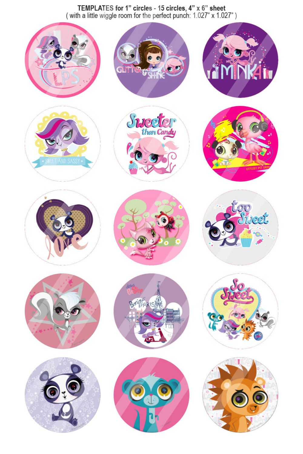 Littlest Pet Shop 1 Inch Bottle Cap Images 30 Images By BestofImages On Etsy