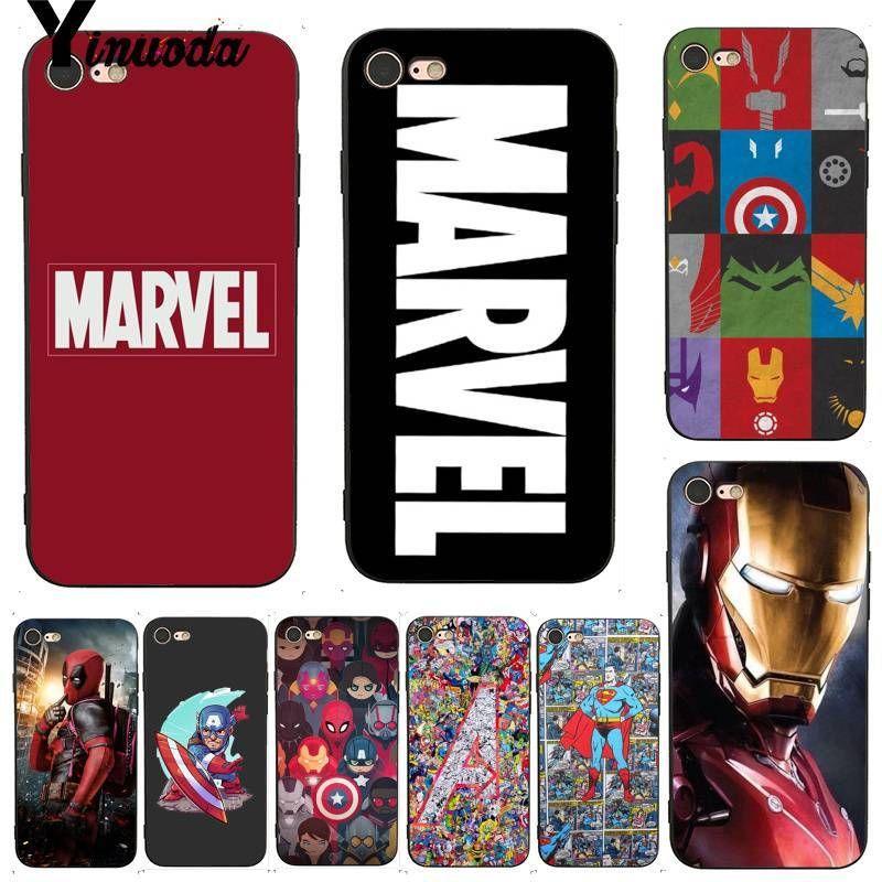 1373f8bc307 Yinuoda For iphone 7 6 X Case Deadpool Iron Man Marvel Avengers KingKong  Soft Phone Case for iPhone 7 X 6 6S 8 Plus 5 5S SE 5C