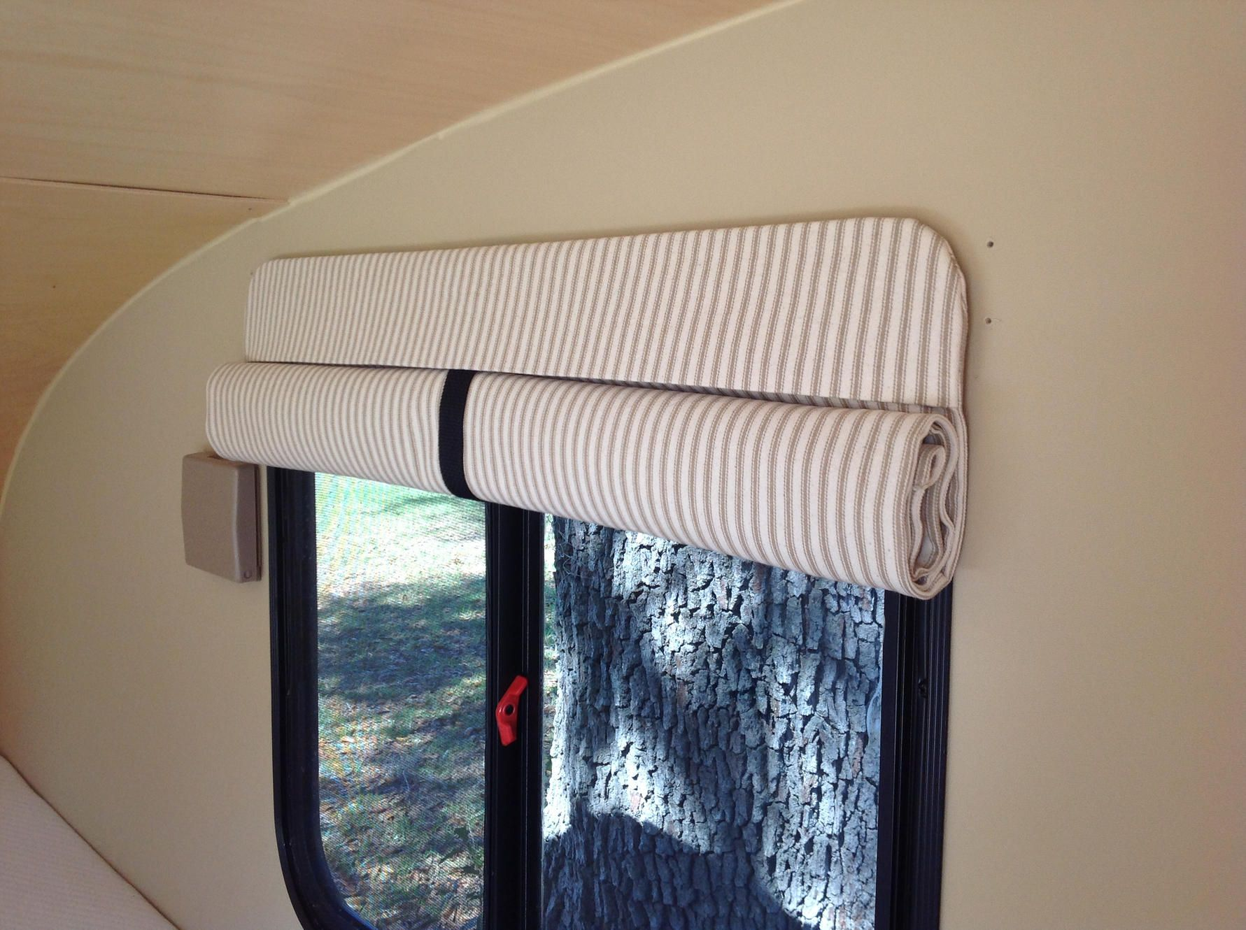 Camper curtains and camper door shades designed and made