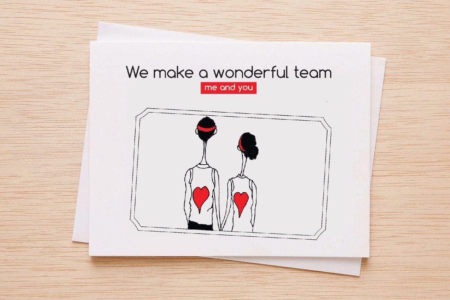 We Make A Wonderful Team Products