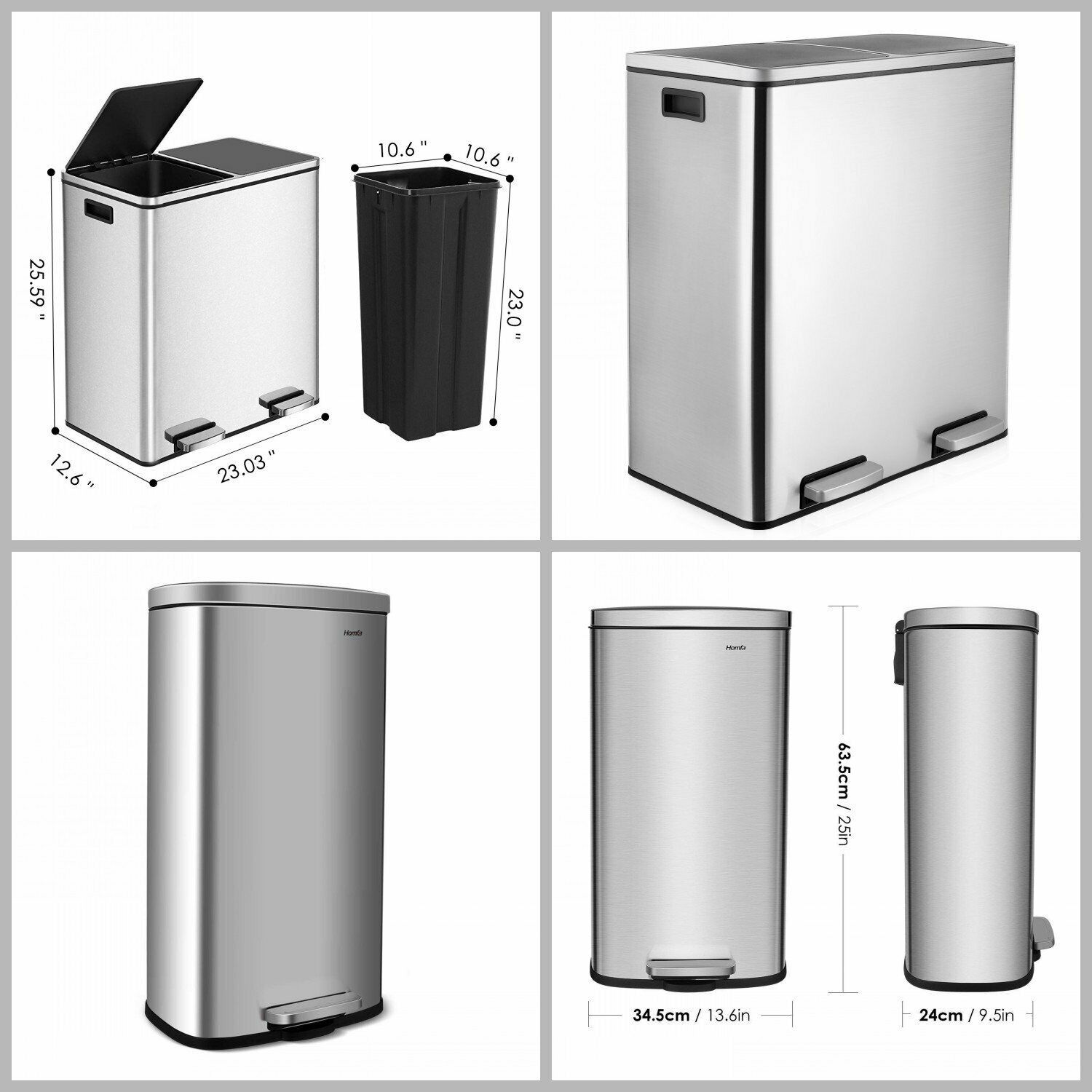 Garbage Can Garbage Can Ideas Garbage Can Garbagecan 30 L 60 L Step Trash Can Garbage Bin L Kitchen Trash Cans Bathroom Trash Can Stainless Steel Kitchen