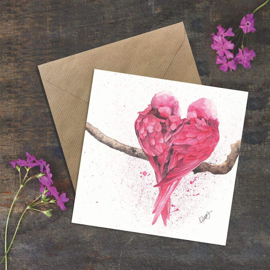 Love Is Greeting Card Engagement Card Birthday Card Thank You