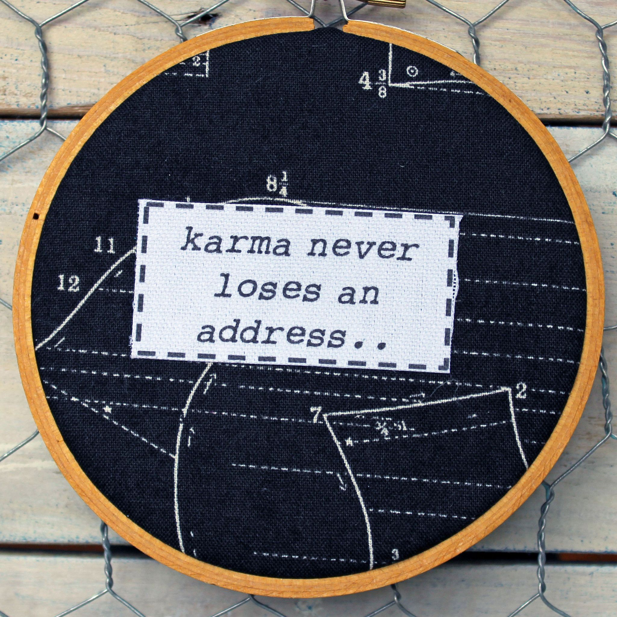 Citaten Hoop United : Karma never loses an address hoop art products karma quotes