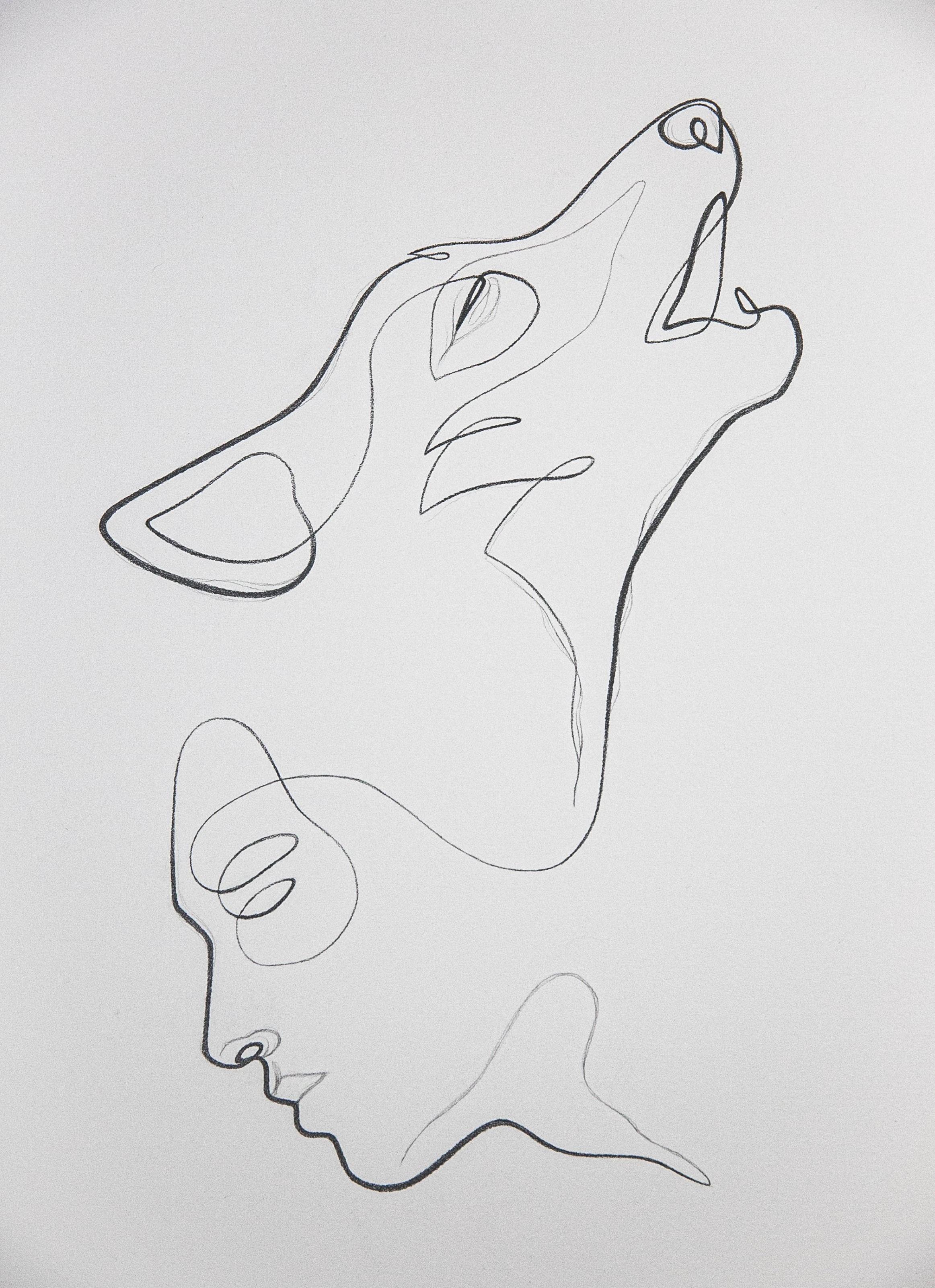, Minimalist Line Drawing of the Lone Wolf, My Tattoo Blog 2020, My Tattoo Blog 2020