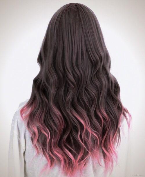 Pink Tips Gaya Rambut Gaya Rambut Pendek Warna Rambut