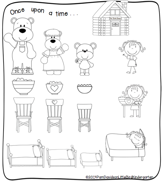 Little Bird Kindergarten The Three Bears and Listen up First – Goldilocks and the Three Bears Worksheets
