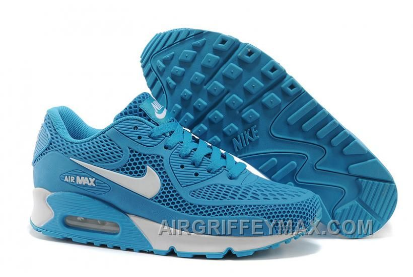 the latest 5c3ca a6d09 New Order Nike Air Max 90 Womens Running Shoes Blue White, Price   99.00