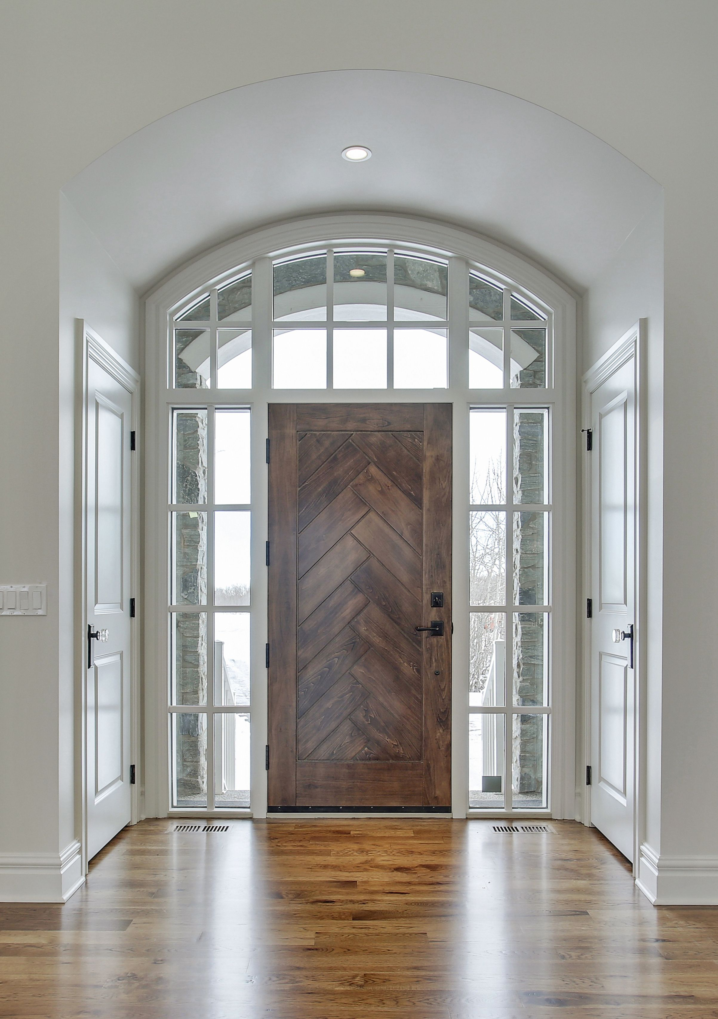 Silverhorn custom front door by Veranda Estate Homes Inc