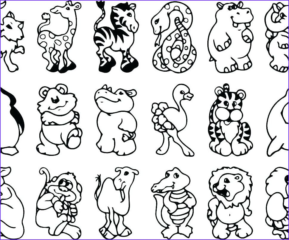 13 Inspirational Zoo Animals Coloring Pages Photos In 2020 Zoo