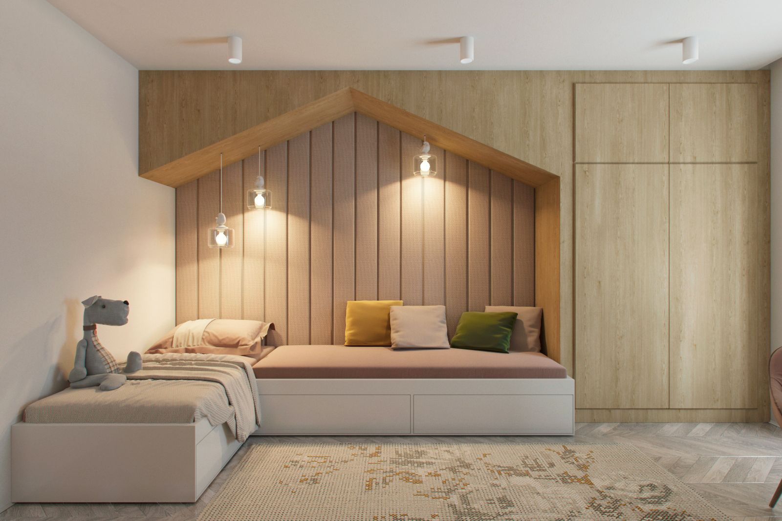 Https Www Behance Net Gallery 51935621 Heywood Modern Apartment Design Apartment Interior Bedroom Design