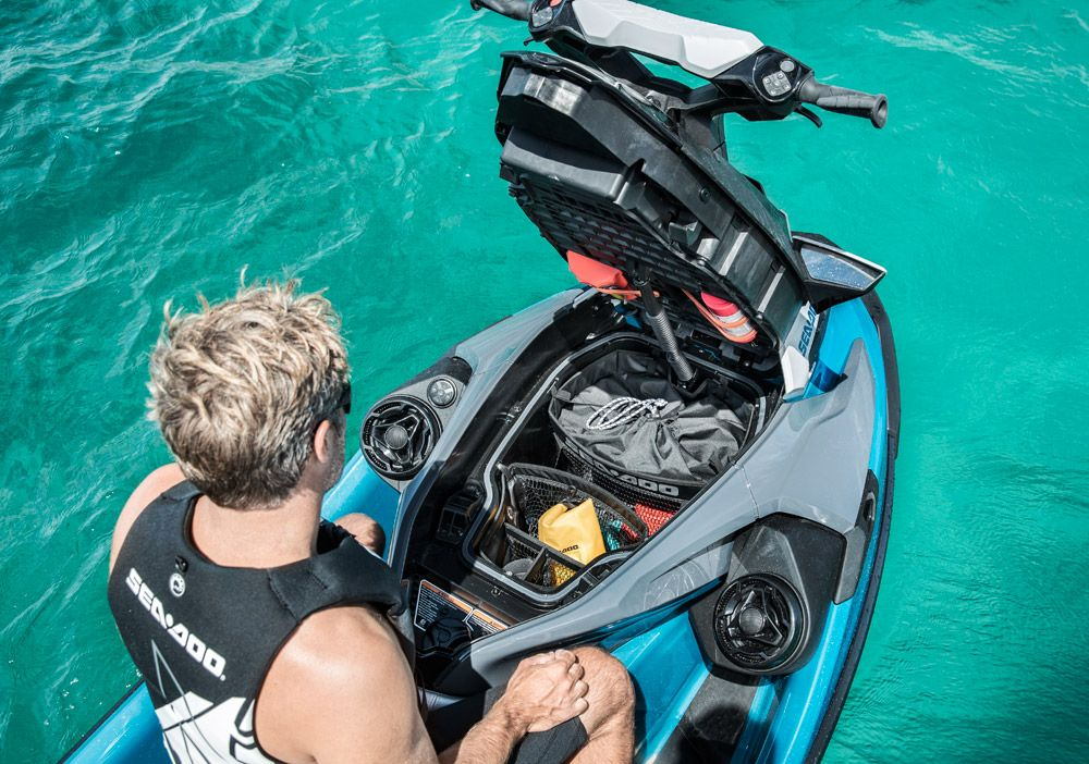 2018 Sea-Doo GTX 230 Review | Sea-Doo | Golf bags, Sea