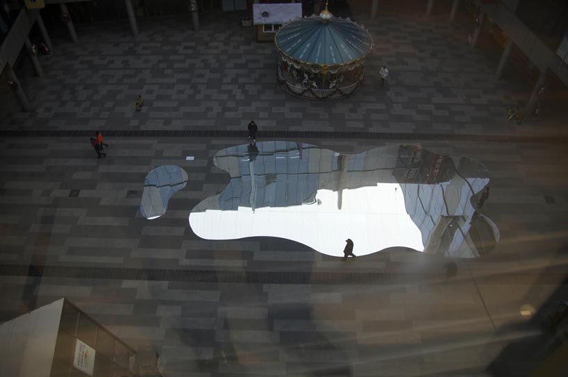 the lost lakes of china pop up as reflections across beijing - designboom