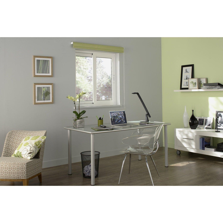 Fenetre Coulissante Aluminium H 125 X L 120 Cm Blanc 2 Vantaux Coulissant A D Fenetre Coulissante Decoration Maison Et Fenetres Aluminium