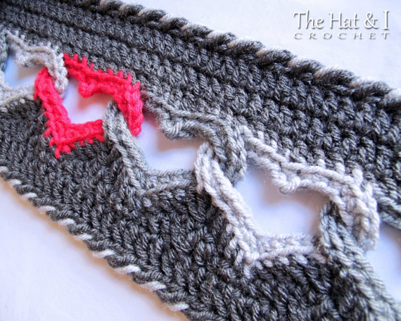 Crochet Scarf PATTERN - Sweetheart Scarf - crochet pattern for ...