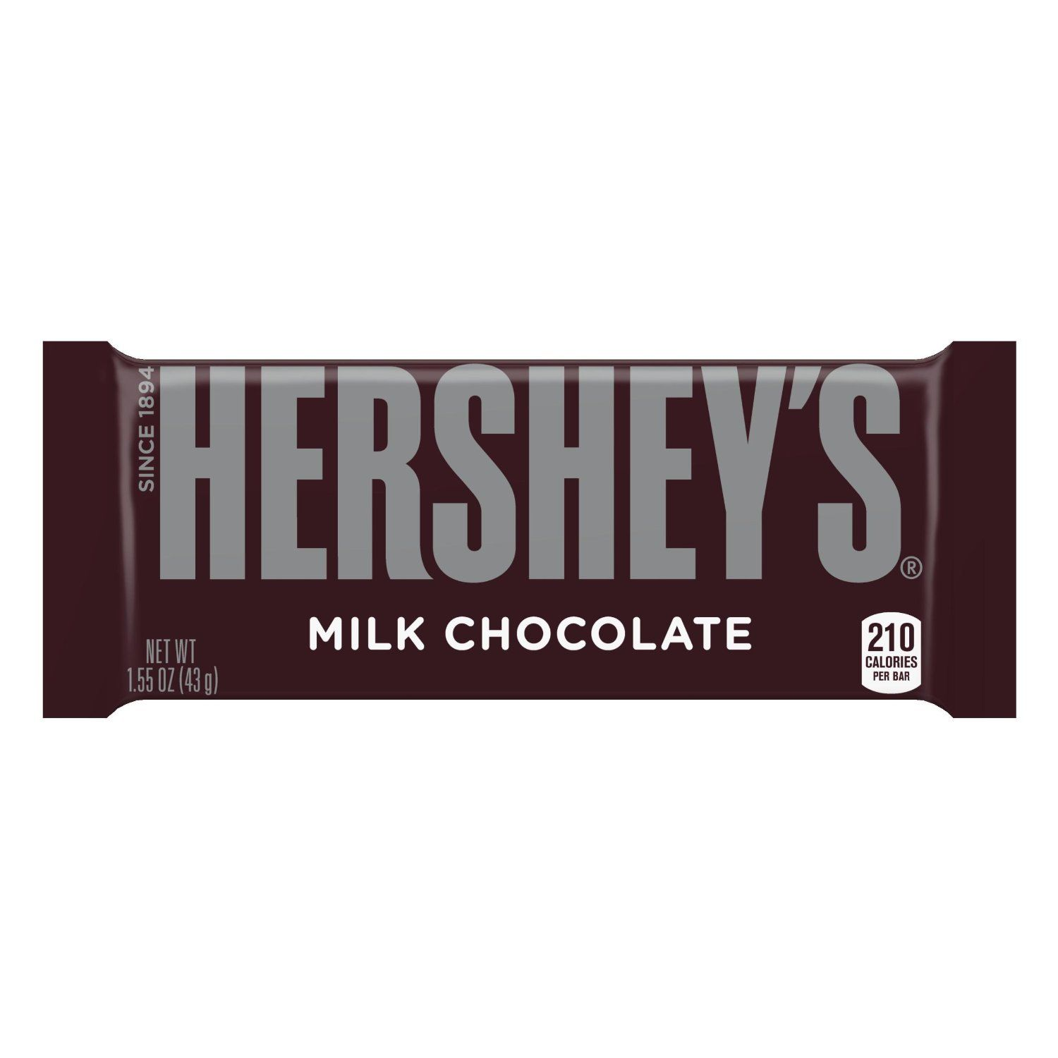 Hershey's Milk Chocolate Bar, 1.55-Ounce Bars (Pack of 36 ...