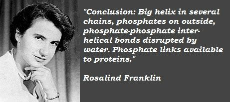 Image result for rosalind franklin quotes