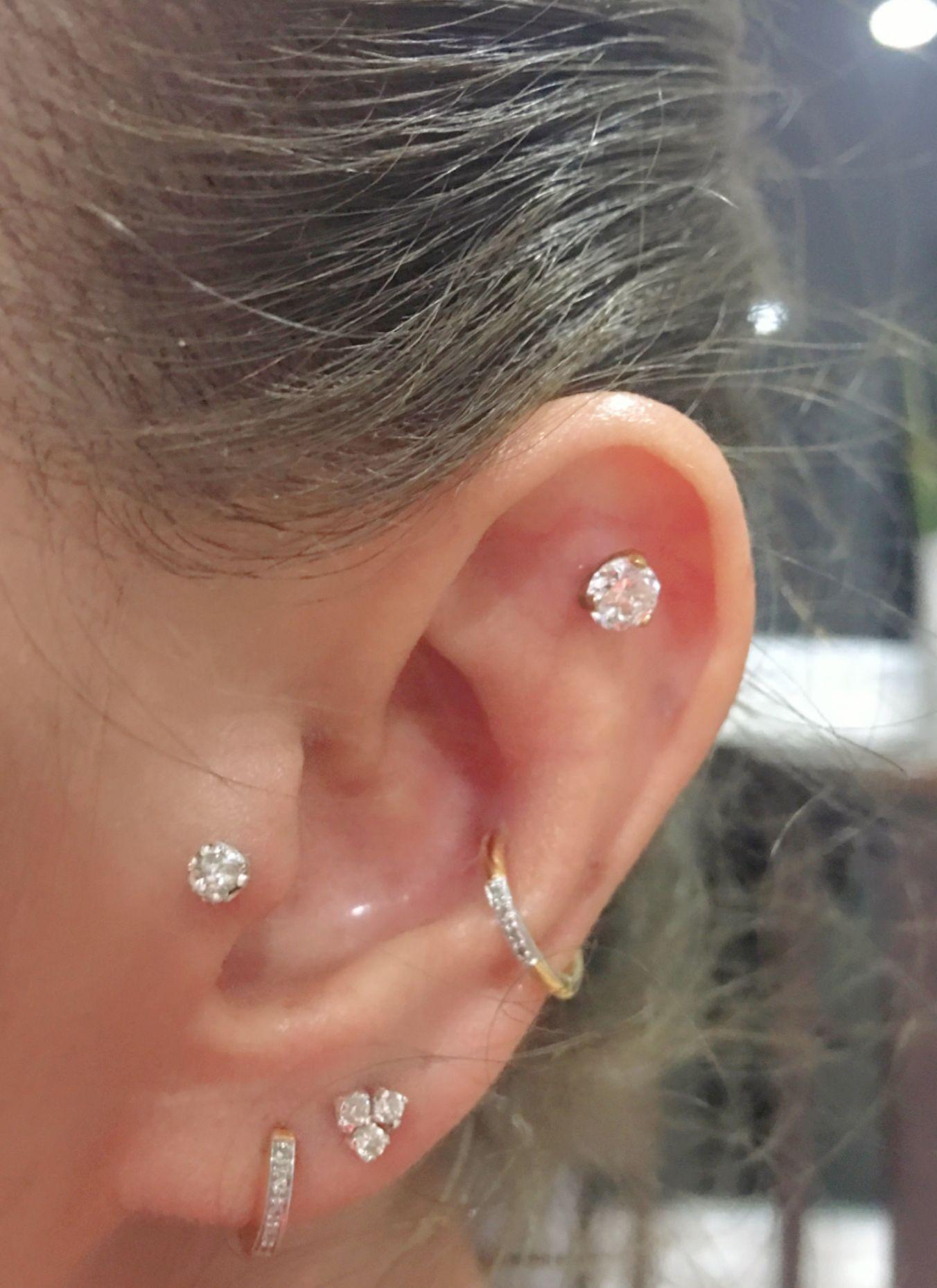 Ear lobe piercing names  Pin by Esmera on Earrings  Pinterest