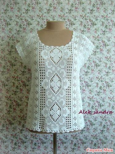 кофта для мамы филейка вязание страна мам Dress N Style7