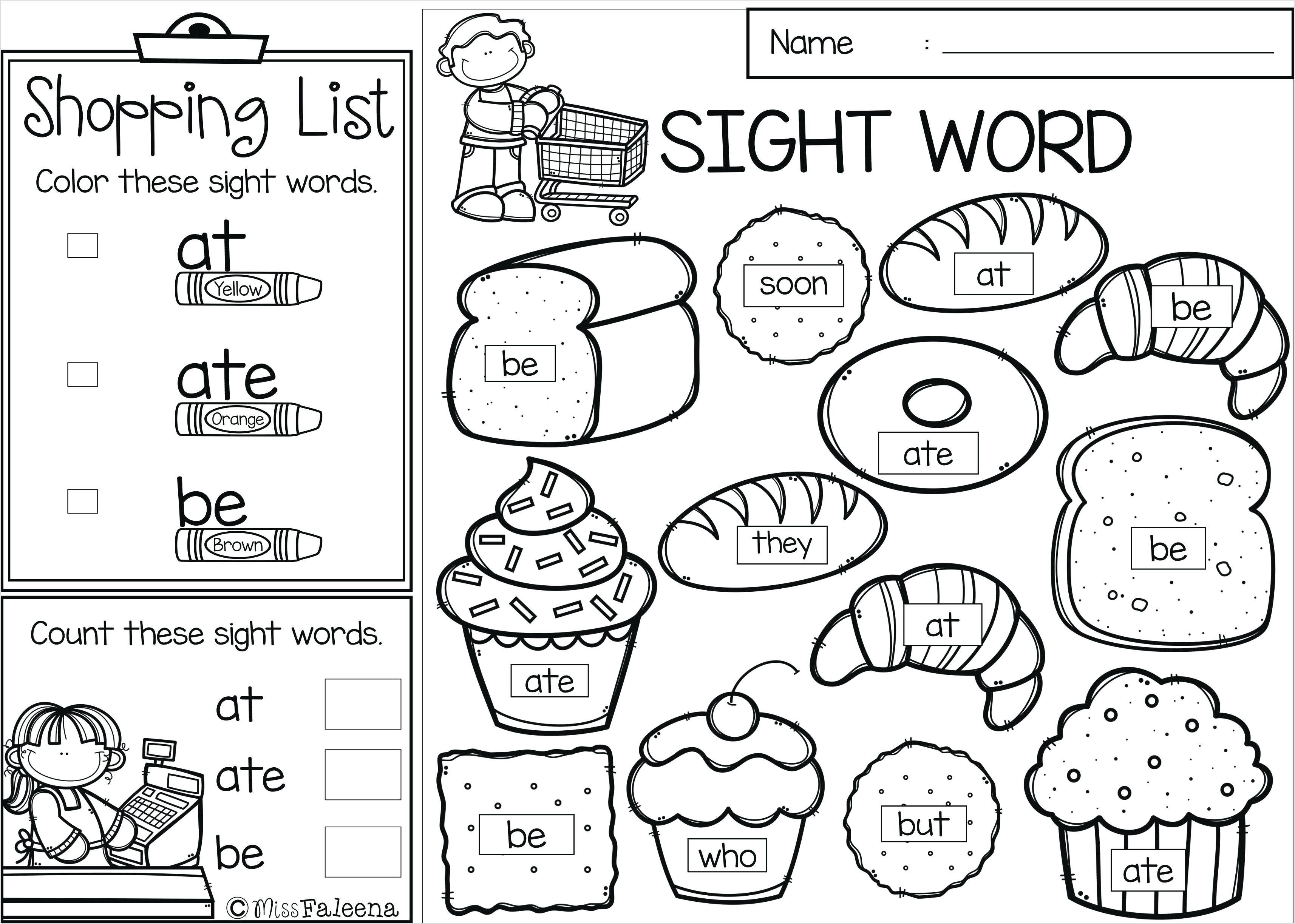 Sight Word Coloring Pages New A In Inspired Sight Word