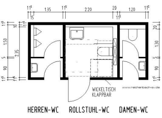 wc anlage anpassung im bestand detail anlage barrierefrei und barrierefreies bauen. Black Bedroom Furniture Sets. Home Design Ideas