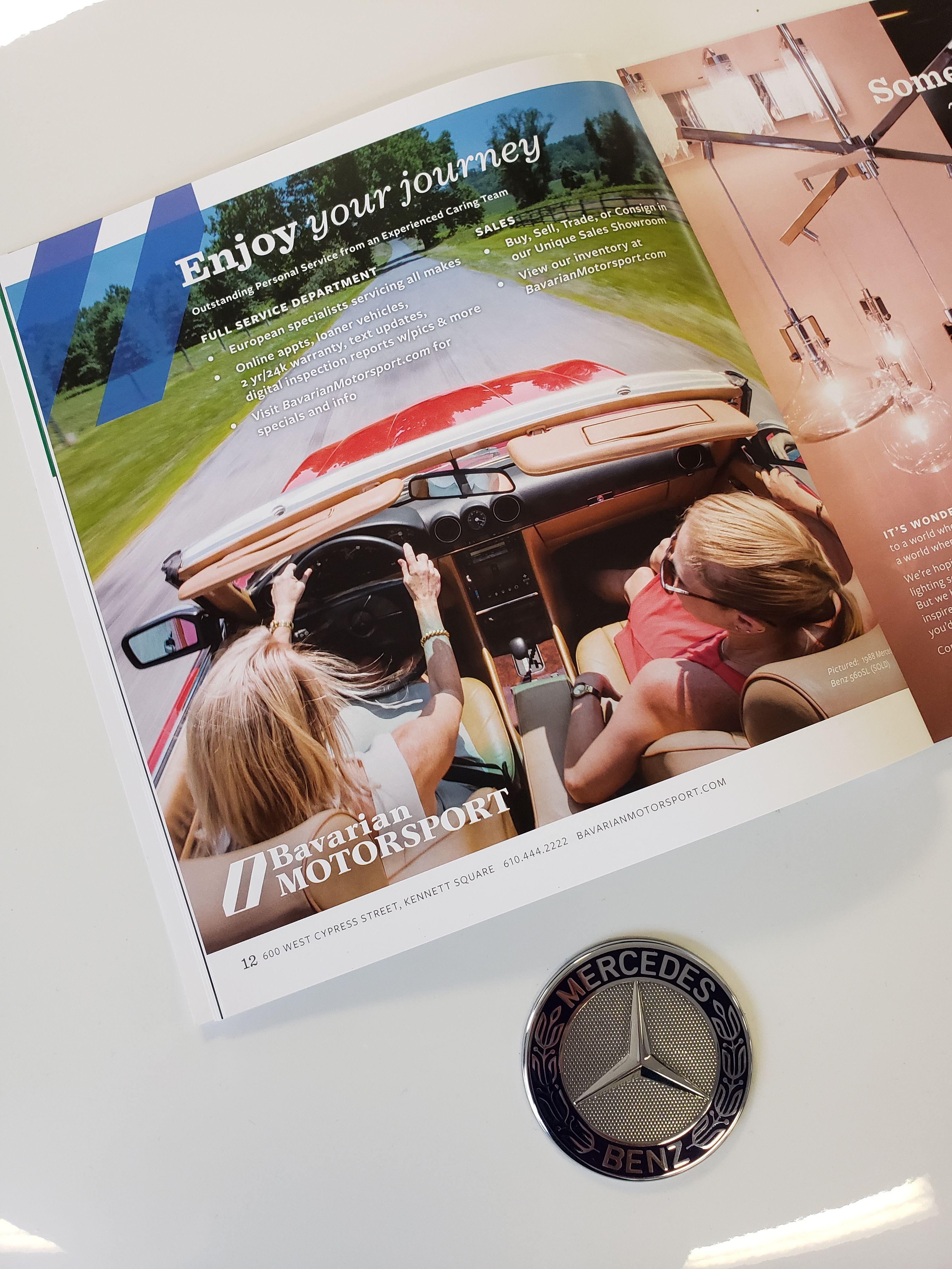 Magazine Falledition Fallseason Fallad Bavarianmotorsport Mercedesbenz Convertible Advertisement Ken Auto Service Repair And Maintenance Mercedes Benz