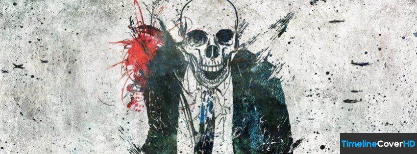 Skull Suit Facebook Cover Timeline Banner For Fb Facebook