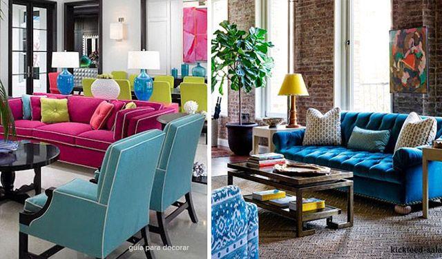 Ideas decoracion salas con color Toque de color, El día de hoy y
