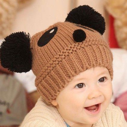 Toddler Infant Kids Baby Boy Girl Hiver Chaud Crochet Tricot Chapeau Beanie Caps Cadeau