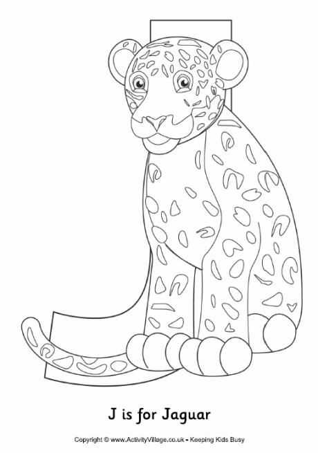 J Is For Jaguar Colouring Page Abc Coloring Pages Letter A Crafts Abc Coloring