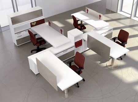 Bureau bench et openspace astro arche epoxia mobilier