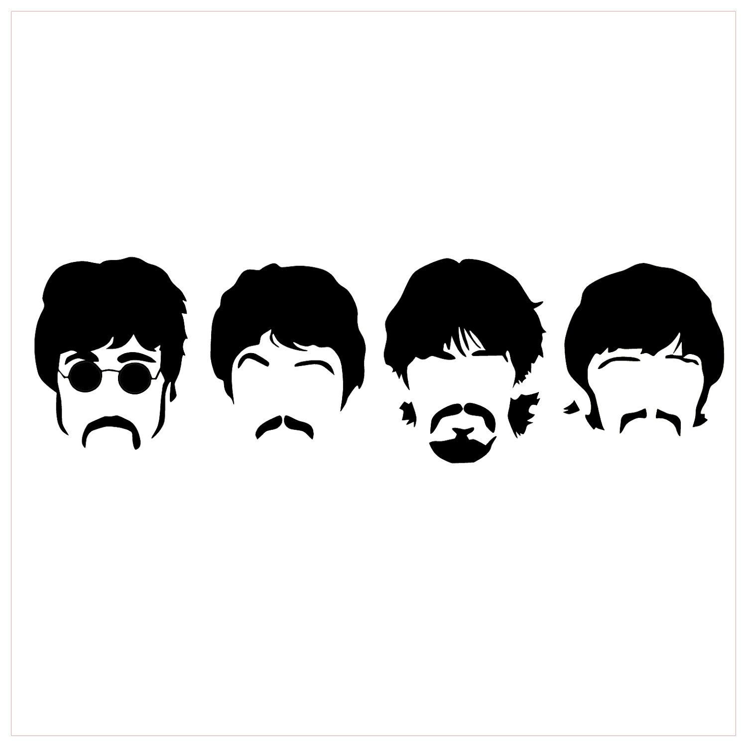 the beatles silhouette band vinyl sticker decal 35 00 via etsy