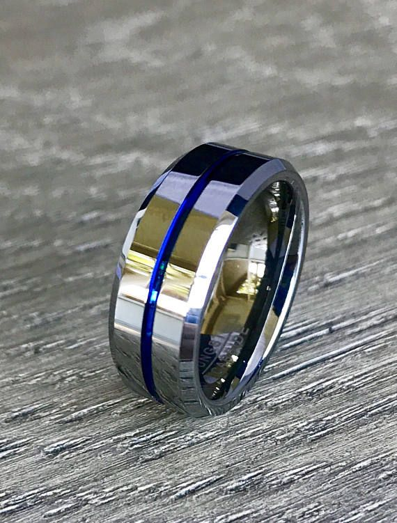 Mens TUNGSTEN Carbide Shiny Finish Wedding Band Ring 2 MM size10,11,12.