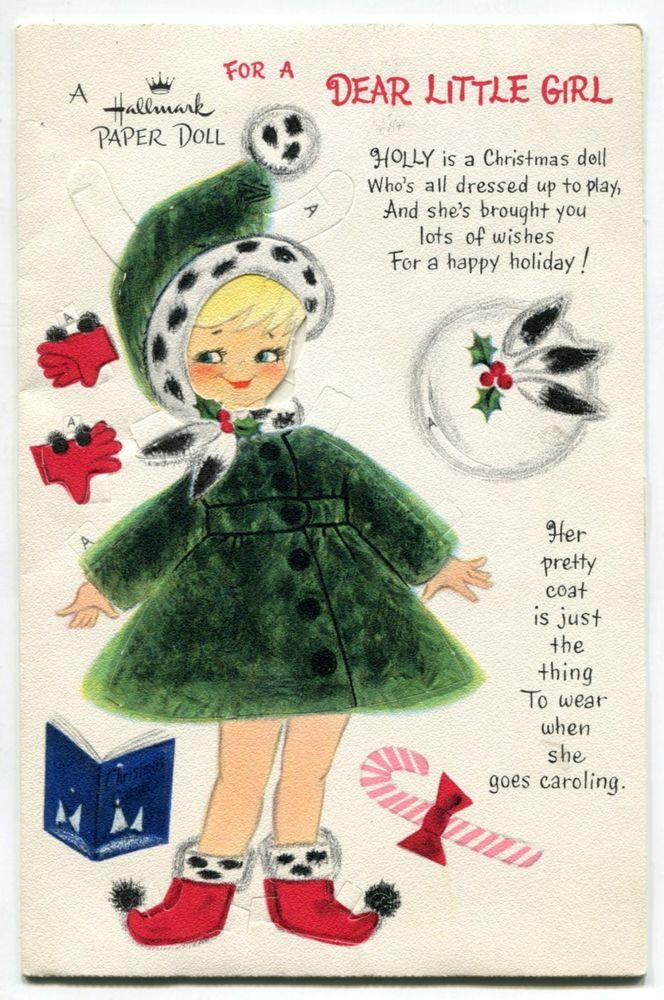 Vintage HALLMARK Christmas Card: Punch Out \